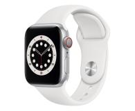 Apple Watch 6 40/Silver Aluminium/White Sport LTE - 592206 - zdjęcie 1