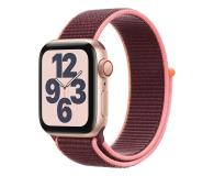 Apple Watch SE 40/Gold Aluminium/Plum Sport Loop LTE - 593160 - zdjęcie 1