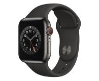 Apple Watch 6 40/Graphite Steel/Black Sport LTE - 593154 - zdjęcie 1