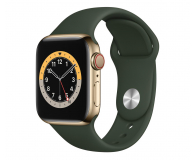 Apple Watch 6 40/Gold Steel/Cyprus Green Sport LTE - 593149 - zdjęcie 1