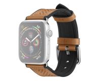 Spigen Pasek Skórzany Retro Fit do Apple Watch brązowy - 527315 - zdjęcie 1