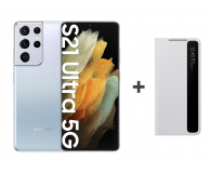 Samsung Galaxy S21 Ultra 12/128 Silver + Clear View Cover - 619129 - zdjęcie 1