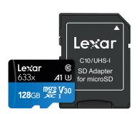 Lexar 128GB microSDXC High-Performance 633x UHS-I A1 V30 - 603805 - zdjęcie 1