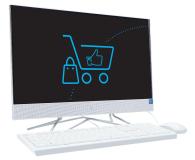 HP 24 AiO J4025/4GB/256 IPS White  - 607626 - zdjęcie 3