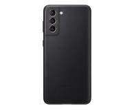 Samsung Leather Cover do Galaxy S21+ Black - 617445 - zdjęcie 1