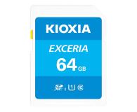KIOXIA 64GB SDXC Exceria 100MB/s C10 UHS-I U1 - 636691 - zdjęcie 1