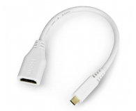 Raspberry Pi Adapter microHDMI - HDMI oryginalny do RPi 4B  - 635257 - zdjęcie 1