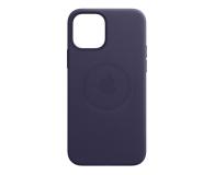 Apple Skórzane etui iPhone 12 mini ciemny fiolet - 648982 - zdjęcie 2