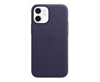 Apple Skórzane etui iPhone 12 mini ciemny fiolet - 648982 - zdjęcie 1