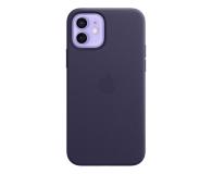 Apple Skórzane etui iPhone 12 12Pro ciemny fiolet - 648983 - zdjęcie 1