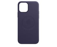 Apple Skórzane etui iPhone 12 12Pro ciemny fiolet - 648983 - zdjęcie 2