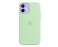 Apple Silikonowe etui iPhone 12 mini pistacjowe - 648986 - zdjęcie 1
