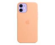 Apple Silikonowe etui iPhone 12 mini melonowe - 648987 - zdjęcie 1