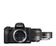 Canon EOS M50 czarny+ M15-45mm F3.5-6.3 IS STM+ M22mm - 646537 - zdjęcie 1