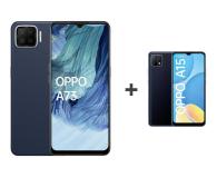 OPPO A73 4/128GB AMOLED NFC Granatowy+A15 2/32GB Czarny - 652145 - zdjęcie 1