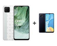 OPPO A73 4/128GB AMOLED NFC Biały+A15 2/32GB Czarny - 652137 - zdjęcie 1