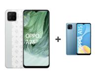 OPPO A73 4/128GB AMOLED NFC Biały+A15 2/32GB Niebieski - 652138 - zdjęcie 1
