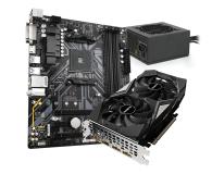 Gigabyte Pakiet: GTX 1660 OC + B450M DS3H V2 + 550W 80+Gold - 660238 - zdjęcie 1