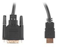 Lanberg Kabel HDMI(M) - DVI-D(M)(24+1) 1.8m, 4K/30HZ - 672612 - zdjęcie 2