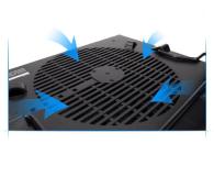 """Zalman Chłodząca ZM-NS2000 czarna (3x hub USB, do 17,3"""") - 165228 - zdjęcie 4"""