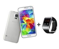Samsung Galaxy S5 G900 biały + Galaxy Gear czarny - 179422 - zdjęcie 1