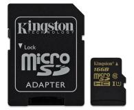 Kingston 16GB microSDHC Class10 zapis 45MB/s odczyt 90MB/s - 185516 - zdjęcie 3