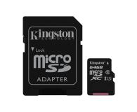 Kingston 64GB microSDXC Class10 zapis 10MB/s odczyt 45MB/s - 263201 - zdjęcie 2