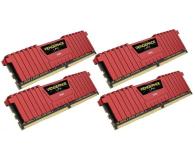 Corsair 32GB 2400MHz Vengeance LPX Red CL14 (4x8GB) - 216150 - zdjęcie 2