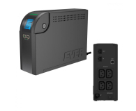 Ever ECO 500 LCD (500VA/300W, 4xIEC, USB, RJ-45, LCD) - 171997 - zdjęcie 1