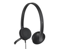 Logitech H340 Headset czarne z mikrofonem - 120306 - zdjęcie 1