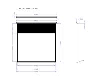 Avtek Ekran ręczny 83' 170x127,5 4:3 Biały Matowy  - 337623 - zdjęcie 2