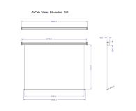 Avtek Ekran elektryczny 88' 180x135 4:3 Biały Matowy - 338027 - zdjęcie 3