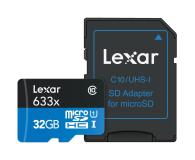 Lexar 32GB microSDHC 633x 95MB/s + adapter - 318643 - zdjęcie 2