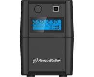 Power Walker VI 650 SE LCD (650VA/360W, 2xPL, USB, LCD, AVR) - 208709 - zdjęcie 3