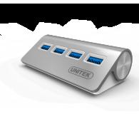 Unitek Aluminiowy Hub 4x USB 3.0 - 313487 - zdjęcie 1