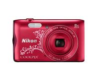 Nikon Coolpix A300 czerwony z ornamentem - 314043 - zdjęcie 1