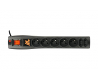 HSK DATA Acar P7 1,5m czarna (7 gniazd) - 30017 - zdjęcie 2