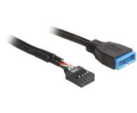 Delock Kabel USB 2.0 9pin - USB 3.0 15pin 0,3m - 182115 - zdjęcie 1