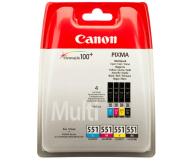 Canon CLI-551 zestaw C/M/Y/BK (6509B009) - 351061 - zdjęcie 1