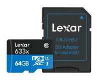 Lexar 64GB microSDXC 633x odczyt: 95MB/s zapis: 45MB/s - 352754 - zdjęcie 3