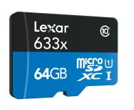 Lexar 64GB microSDXC 633x odczyt: 95MB/s zapis: 45MB/s - 352754 - zdjęcie 2