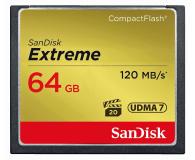 SanDisk 64GB Extreme zapis 85MB/s odczyt 120MB/s  - 179829 - zdjęcie 1