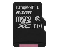 Kingston 64GB microSDXC Class10 zapis 10MB/s odczyt 45MB/s - 263201 - zdjęcie 1