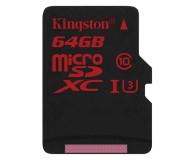 Kingston 64GB microSDXC UHS-I U3 zapis 80MB/s odczyt 90MB/s - 219778 - zdjęcie 1