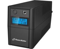 Power Walker VI 650 SE (650VA/360W, 2xSchuko, AVR, USB, LCD) - 359594 - zdjęcie 1