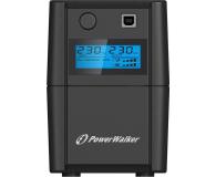 Power Walker VI 650 SE (650VA/360W, 2xSchuko, AVR, USB, LCD) - 359594 - zdjęcie 2