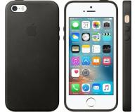 Apple Leather Case do iPhone SE czarny (MMHH2ZM/A)