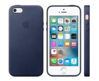 Apple Leather Case do iPhone SE Midnight Blue (MMHG2ZM/A)
