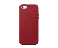 Apple Leather Case do iPhone SE (Product) RED (MR622ZM/A)
