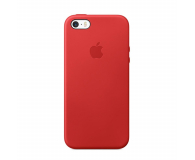 Apple Leather Case do iPhone SE (PRODUCT)RED (MNYV2ZM/A)